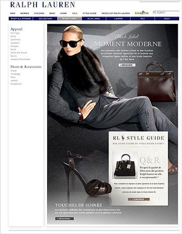 Ralph Lauren lance sa boutique en ligne en France