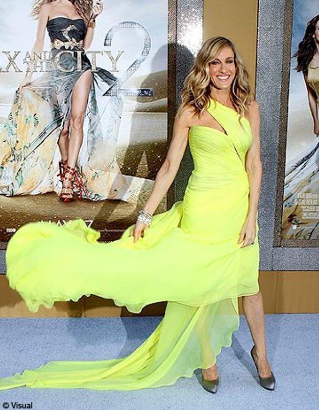 Sarah Jessica Parker adopte la robe jaune fluo