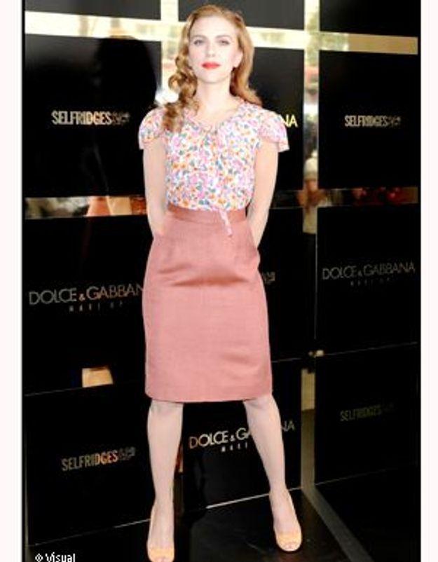 Scarlett Johansson, diva rétro en liberty