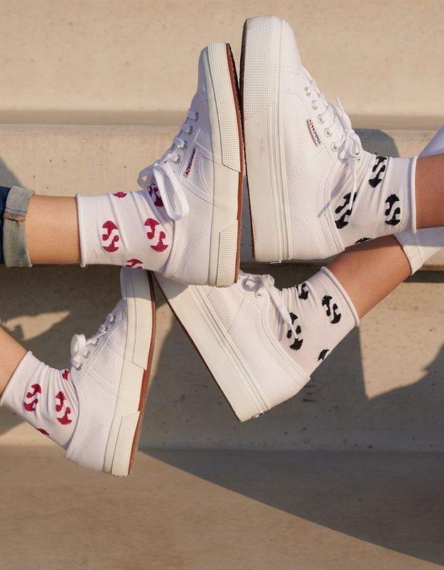 #ELLEFashionCrush : Calzedonia et Superga dévoilent une collection pour mettre nos pieds au chaud
