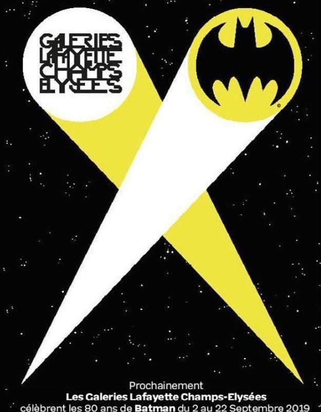 #ELLEFashionSpot : Les Galeries Lafayette Champs-Elysées célèbrent les 80 ans de Batman