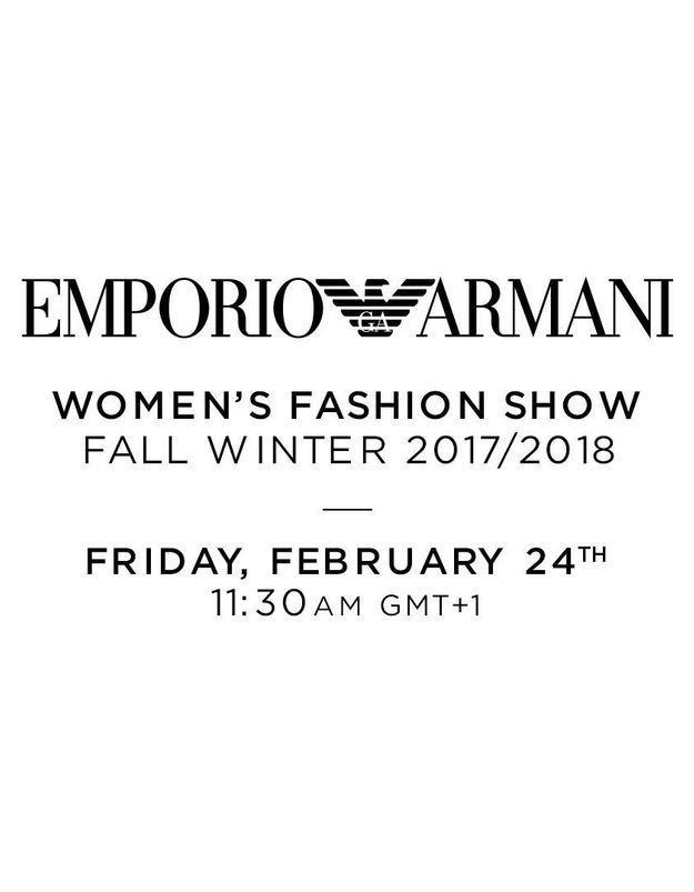 Fashion week de Milan : suivez le défilé Emporio Armani en direct