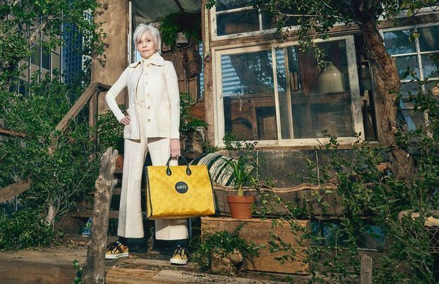 Jane Fonda, héroïne de la première collection éco-responsable de Gucci