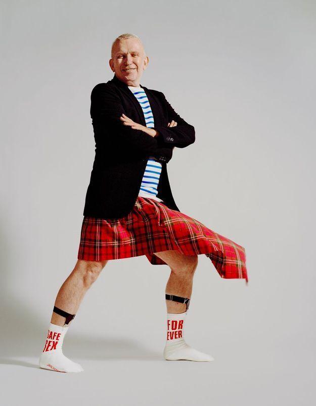 Jean Paul Gaultier : une paire de chaussettes pour le Sidaction