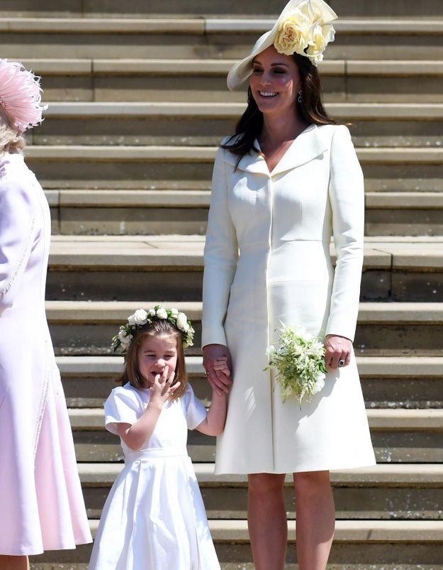 Kate Middleton  au mariage de Harry et Meghan, elle reportait sa robe  pour la