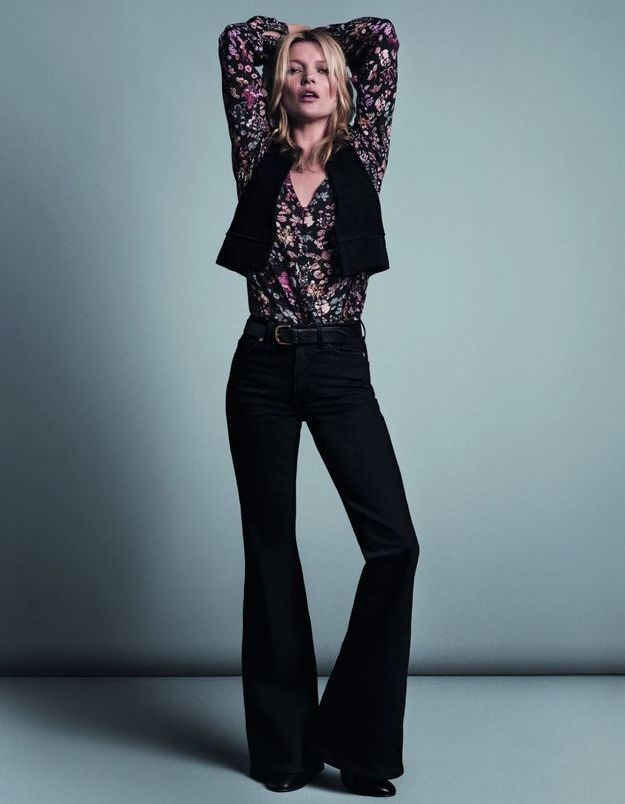 Kate Moss, muse 70's pour Mango