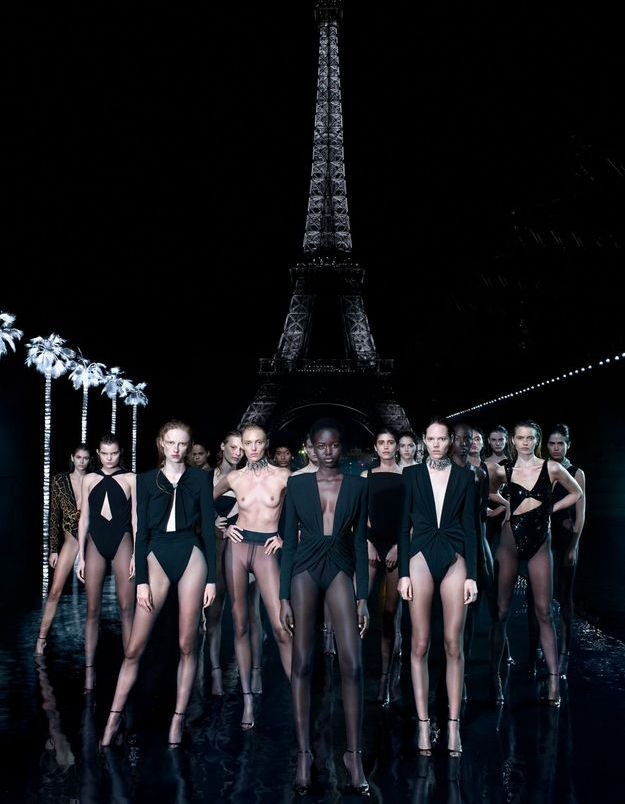 Les mannequins Saint Laurent la jouent femmes fatales pour Self 02