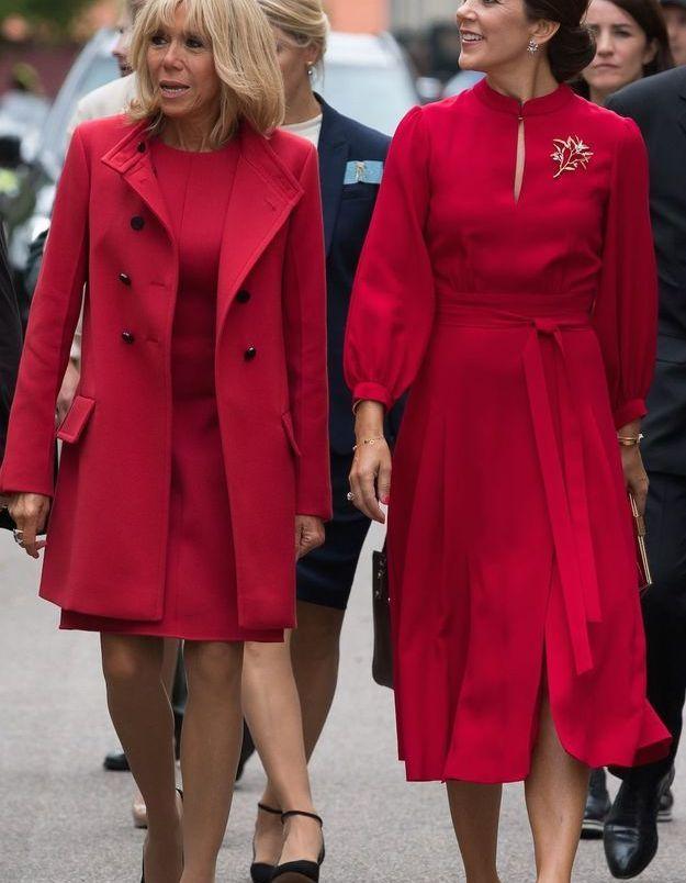 Duo coordonné entre Brigitte Macron et la princesse Mary