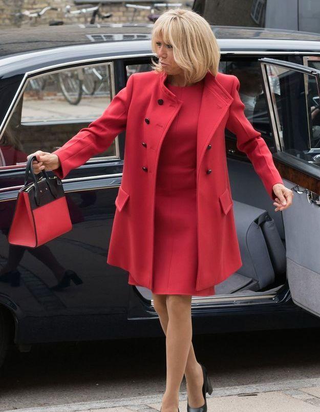 Brigitte Macron arrive à Copenhague le 28 août