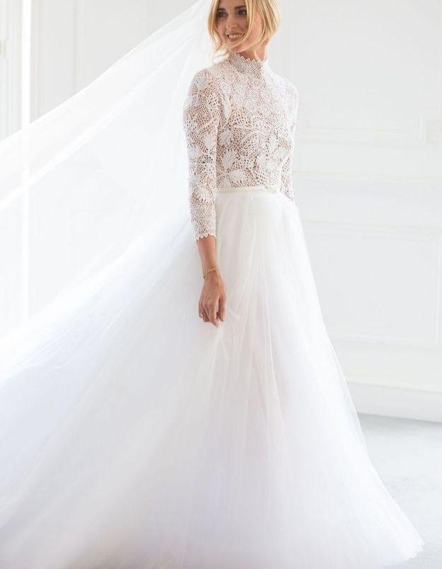 La robe de mariée de Chiara Ferragni par Maria Grazia Chiuri