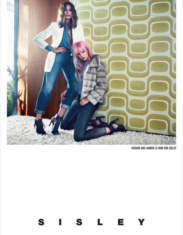 Yasmin et Amber Le Bon pour Sisley