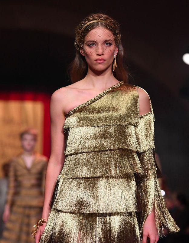 Quelques heures avant le défilé Dior Haute Couture
