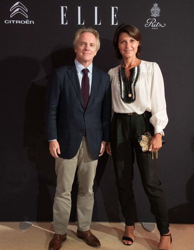 Hervé Gattegno (JDD) et Valérie Nowak (Cartier)