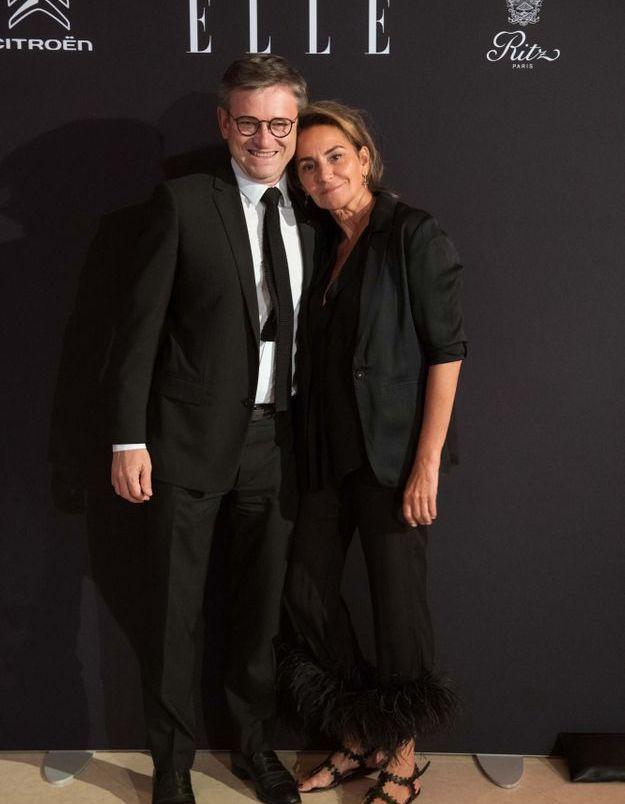 Jean Charles Tréhan (LVMH) et Constance Benqué (ELLE)