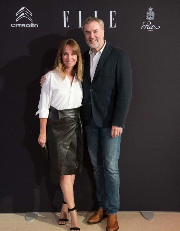 Pascal Collet (La Vallée Village) et Erin Doherty (ELLE)