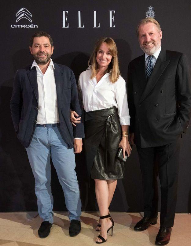 Pierre Sauvage (Casa Lopez), Erin Doherty (ELLE) et Guillaume de Seynes (Hermès)