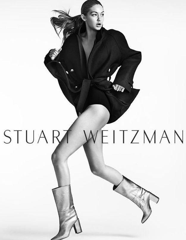 Stuart Weitzman rappelle Gigi Hadid pour sa campagne automne-hiver 2016-17