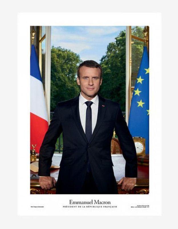 Affiche Portrait Officiel d'Emmanuel Macron