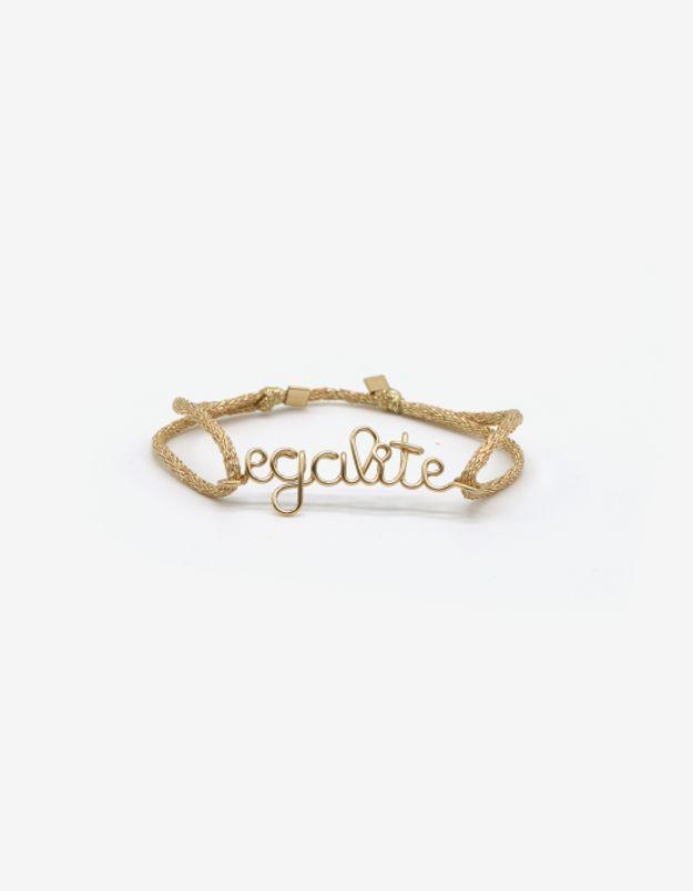 Bracelet Egalité cordon de soie