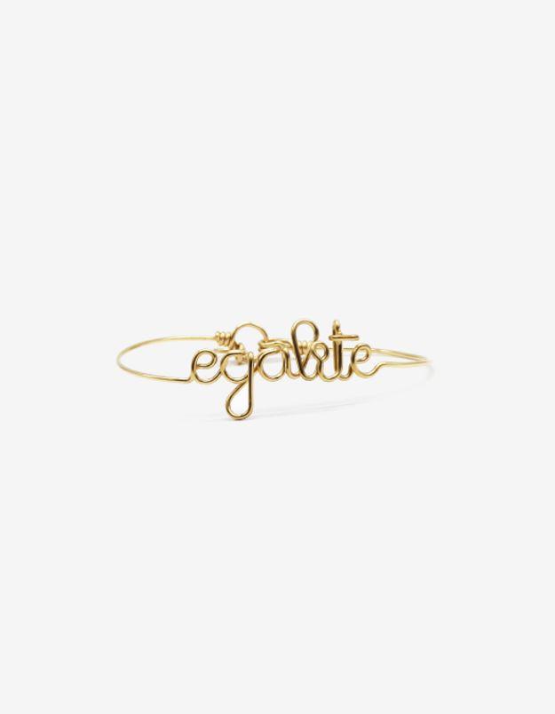Bracelet égalité en or