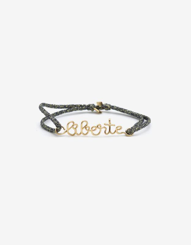 Bracelet Liberté cordon de soie