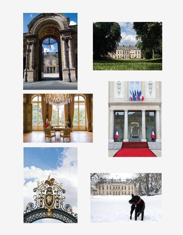 Lot de 6 cartes postales du Palais de l'Elysée