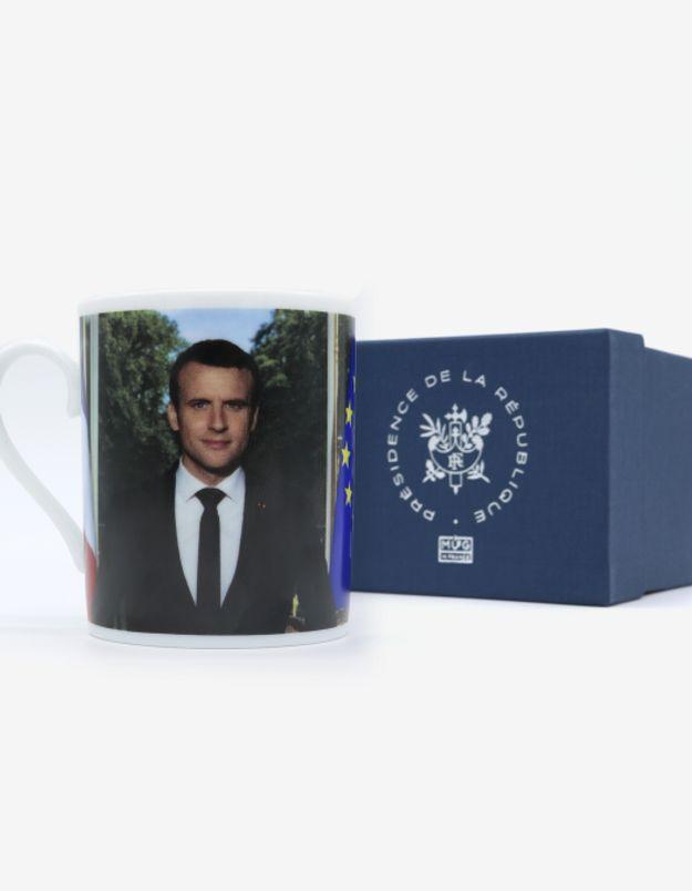 Mug portrait officiel president republique emmanuel macron mug in france