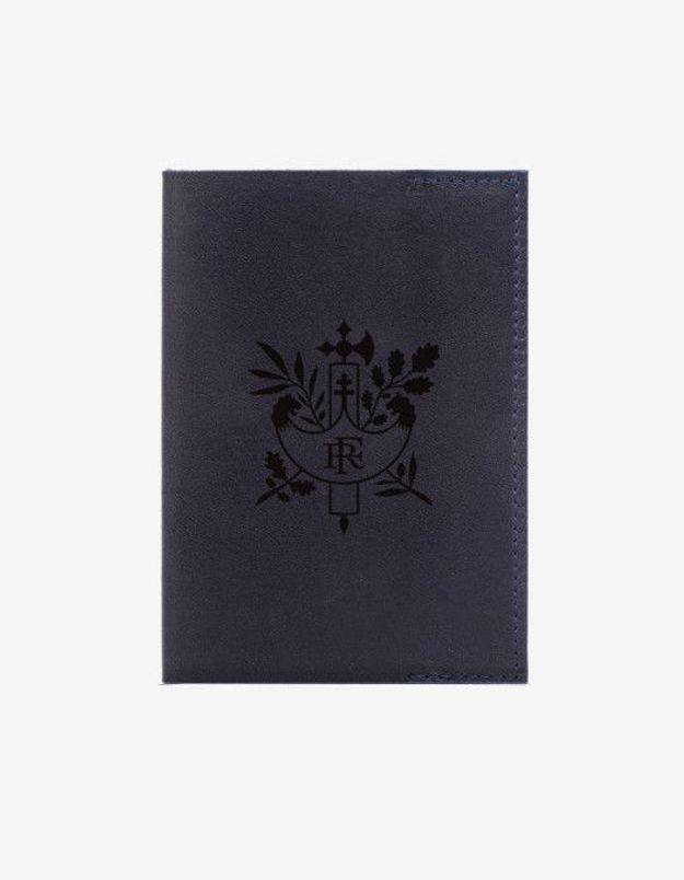 Porte passeport bleu et rouge par Léon Flam