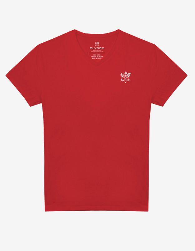 T-shirt rouge brodé
