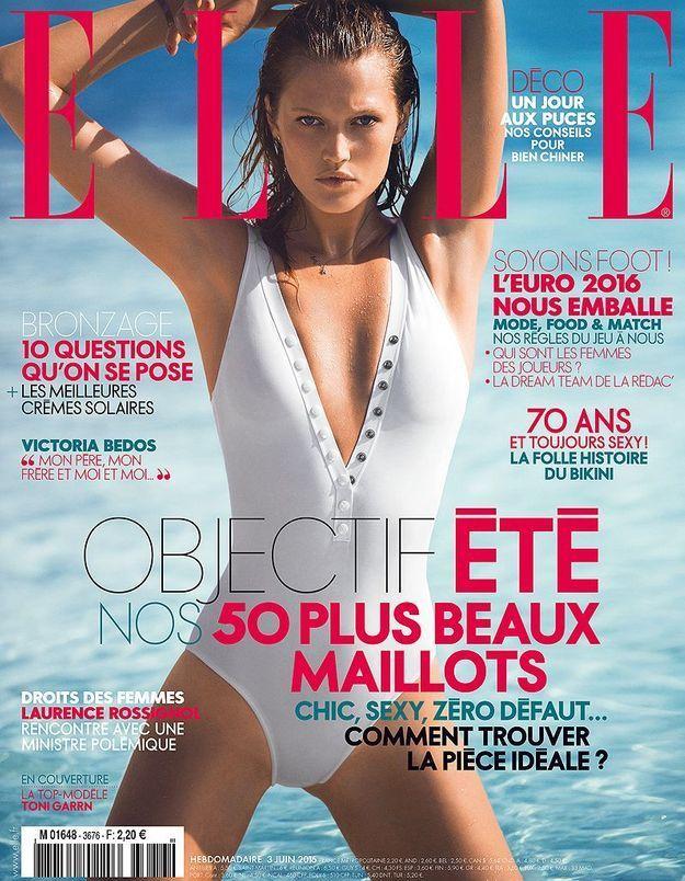 Toni Garrn en couverture de ELLE cette semaine