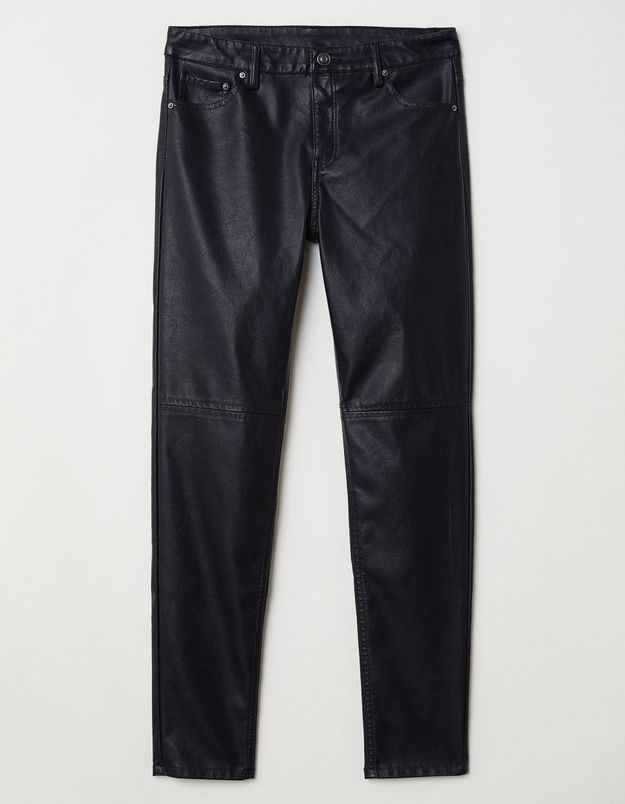 Pantalon motarde en imitation cuir