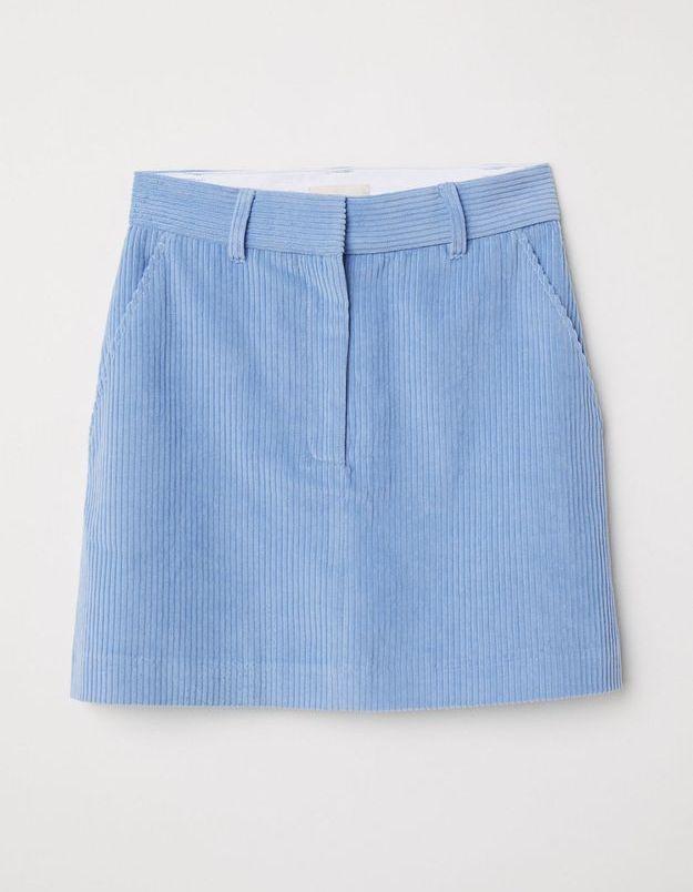 Une jupe bleue