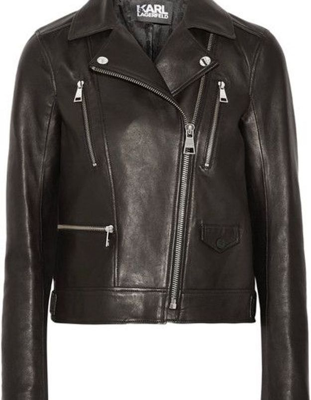 Blouson en cuir Karl Lagerfeld