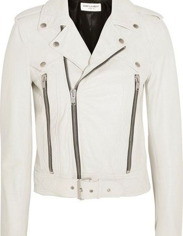 Blouson en cuir Saint Laurent