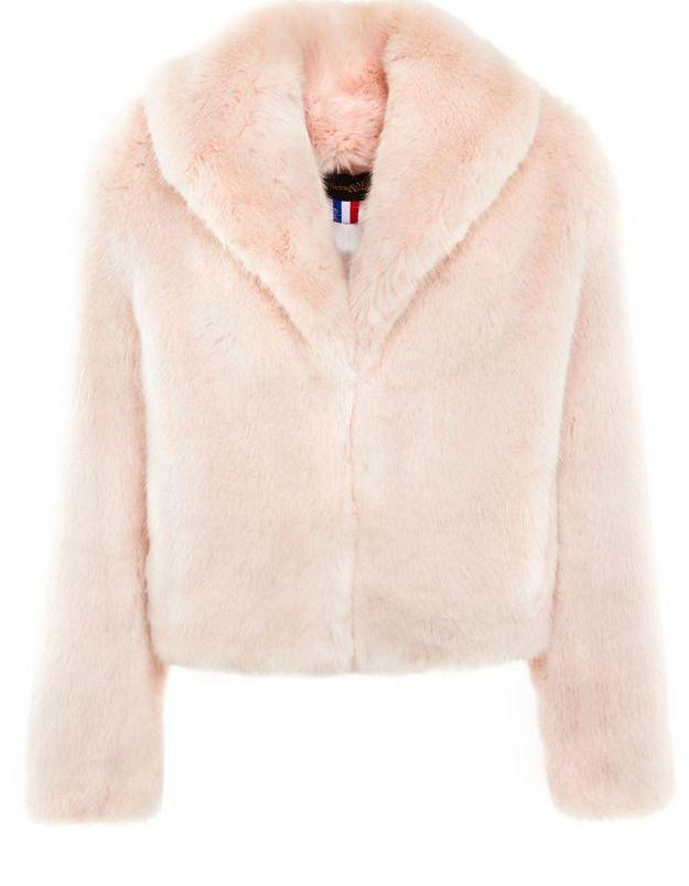 Manteau en fausse fourrure rose La Seine & Moi