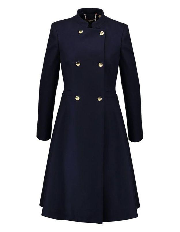 Manteau col officier femme