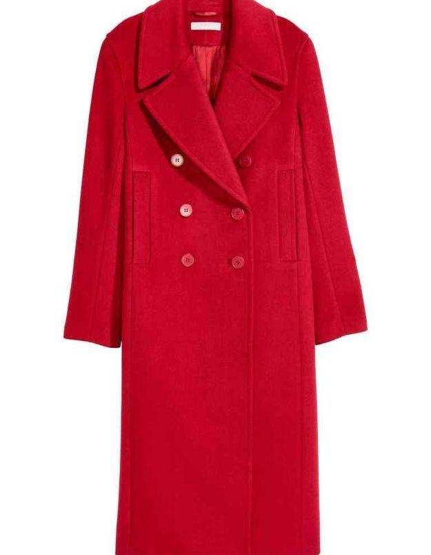 Manteau rouge en laine H&M