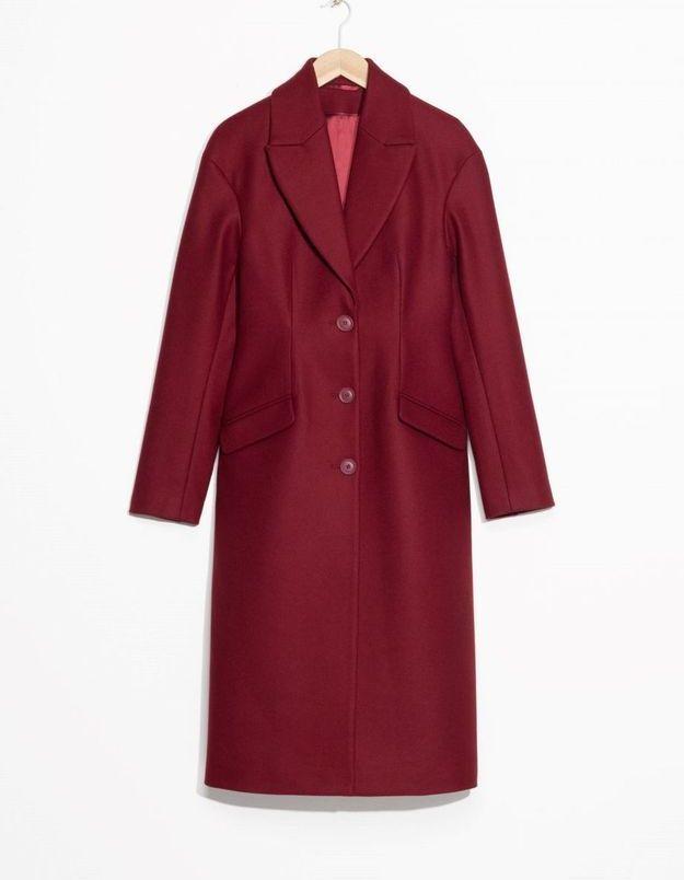 Manteau rouge en laine & Other Stories