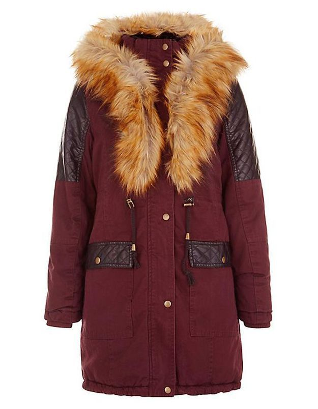 Parka bordeaux New Look