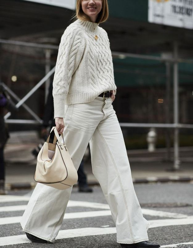 Briller en total look blanc