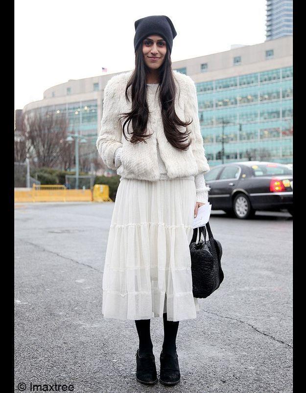 13bonnet Noir Look Blanc