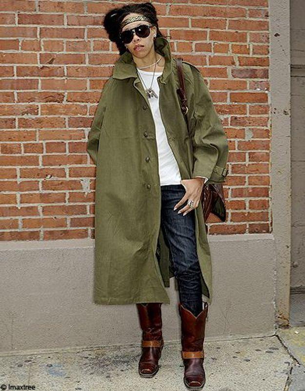 13mode defiles New York street style manteau kaki