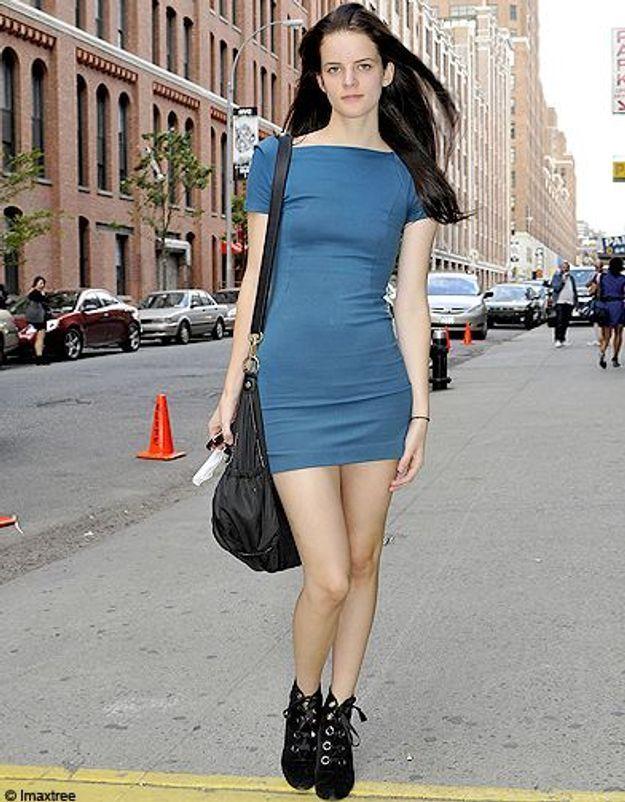 17mode defiles New York street style robe bleue