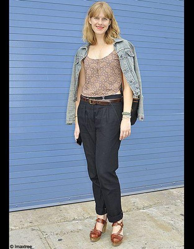 20mode defiles New York street style veste jean