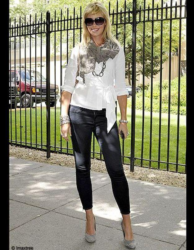 2mode defiles New York street style chemise blanche slim