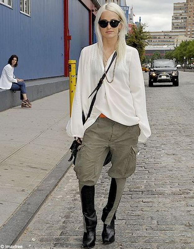 3mode defiles New York street style chemise blanche