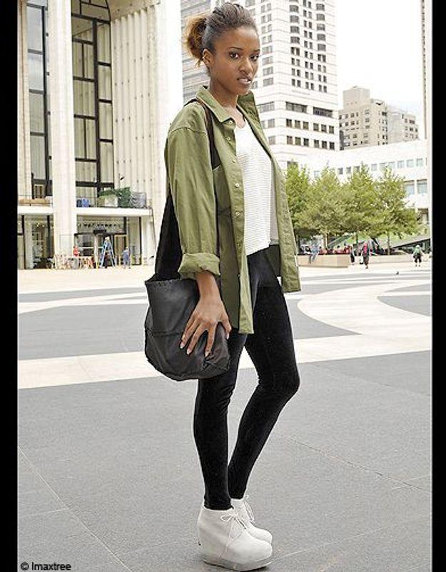 4mode defiles New York street style chemise kaki