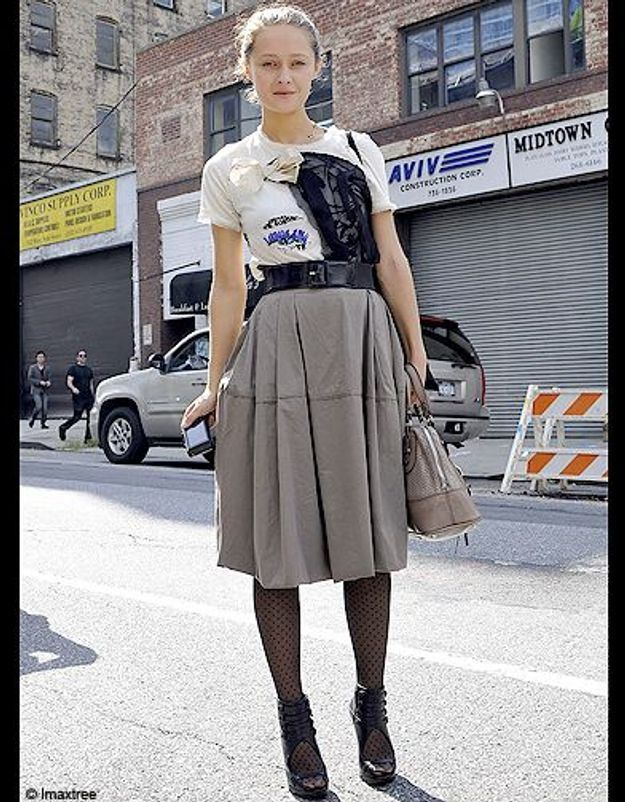 Mode defiles New York street style 11