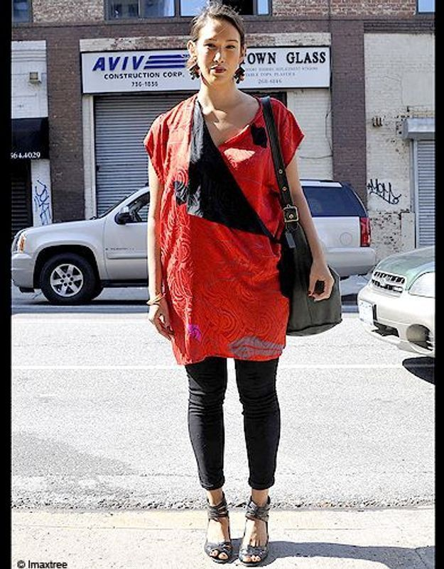 Mode defiles New York street style 13