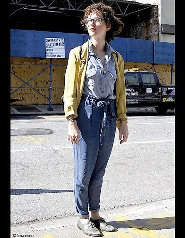 Mode defiles New York street style 14